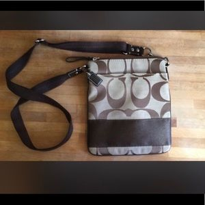 Greg and brown Coach crossbody bag